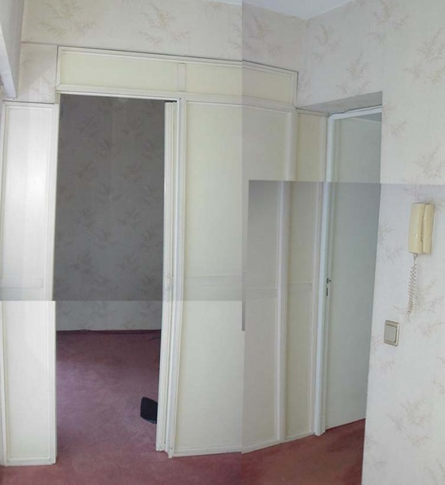 Eran tres dormitorios..