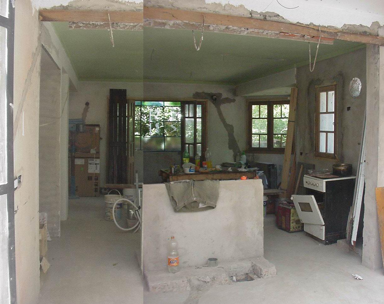 Decoracion De Baños Para Quinchos:de quincho a cocina en obrade cocina hacia entrada